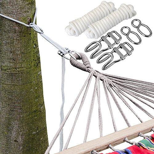 AMANKA 6m Lange Hängematten Befestigung - Flexibles Baum Befestigungsset - Aufhängung bis 160kg