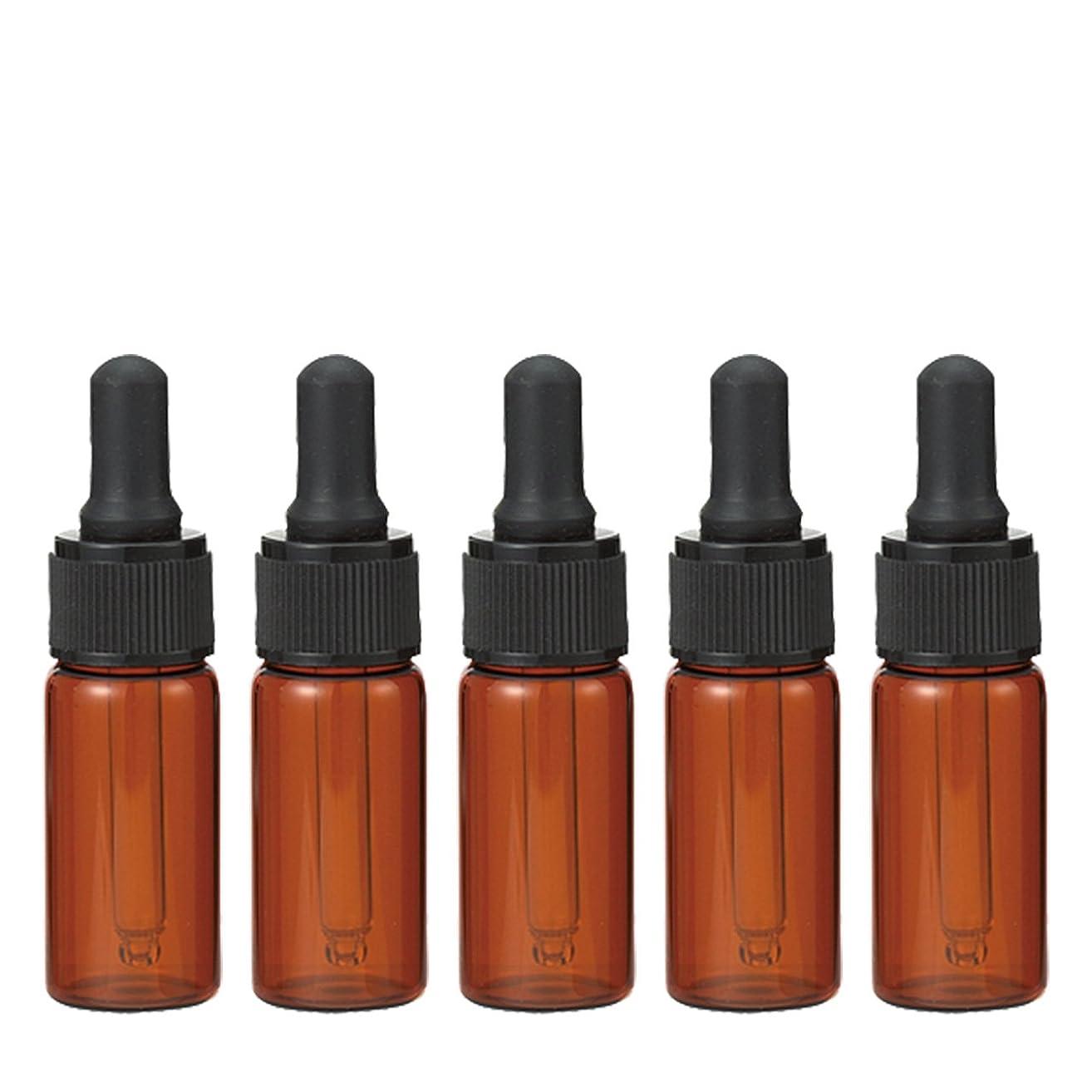 かき混ぜるハミングバード好き生活の木 茶色遮光スポイト瓶 10ml (5本セット)