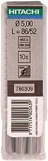 Hitachi–780278Drill Bit for Metal hss-din 338Multipack 10You 2.4x 57mm Long Util 30mm