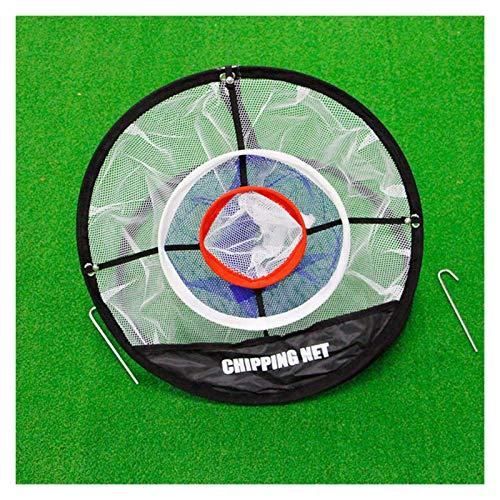 ErNahdasA Red de Golpe de Golf 1 unids Golf Pop Up Mats Práctica Easy Net Golf Training Aysts Metal + Net Interior Outdoor Bitching Pitching Jaits para práctica de béisbol, softbol (Color : As Show)