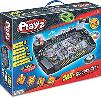 Playz Advanced Electronic Circuit Board Engineering Toy for Kids   328+ Educational Experiments to Wire & Build Smart Connections Using Creative Knowledge of Electricity   Science Gift for Children