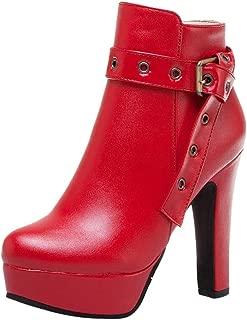 VonVonCo Boots Size Sports Formal Fashion Women Waterproof Platform Round Head High Heels Zipper Ankle