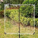Cubierta de la terraza del patio trasero de la lona del polivinilo de la lona transparente transparente de PVC resistente al agua, aislamiento antienvejecimiento de 0,5 mm Lona de vidrio suave,2X3