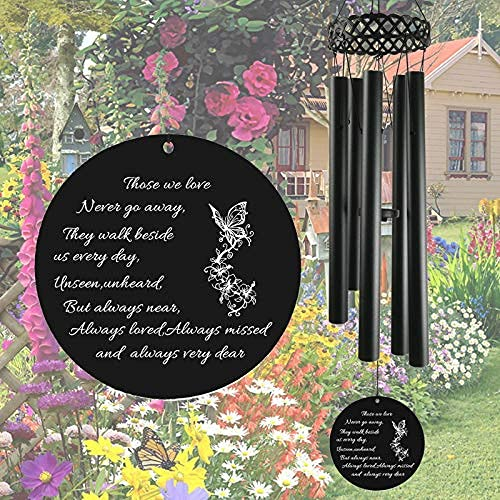 ARARTKEL Memorial Wind Chimes for Outside,30 inch in Memory of Loss Loved One Sympathy Gifts for Dad Mom and Family Member,Metal Windchimes Outdoors Decorations for Your Garden, Patio…