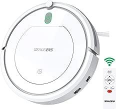 BEAUDENS KK290 Robot Aspirador de Limpieza Patentado Aspiradora de Suciedad 800Pa 3 Fases Sin Pelos Polvo y Mascotas Vacuum Cleaner Limpio Autoajustable Sensor Proyecta, Blanco