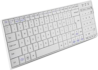 Universal Portable Wireless Bluetooth Keyboard with 2 in 1 Touchpad Numeric Key Mouse Function (White)