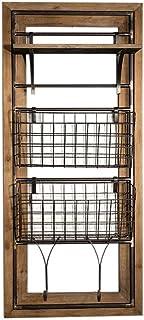 SCH-SC ウォールシェルフ 浴室用ラック ウォールハンギングウォールシェルフキューブ棚フレーム下見板張りストレージスタンドハンギングメタルシェルフラック、ヨーロッパのレトロLOFTウォールマウント/本棚/Mailやキッチン/バー/リビングル...
