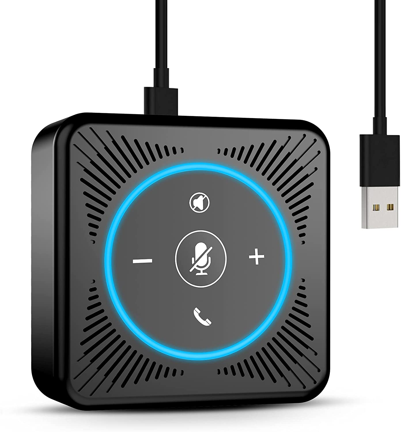 USB Speakerphone - eMeet M0 Conference Speaker for 4 People Business Conference 360° Voice Pickup 4 AI Microphones USB Skype Speakerphone Conference Call Speaker Plug and Play : Office Products