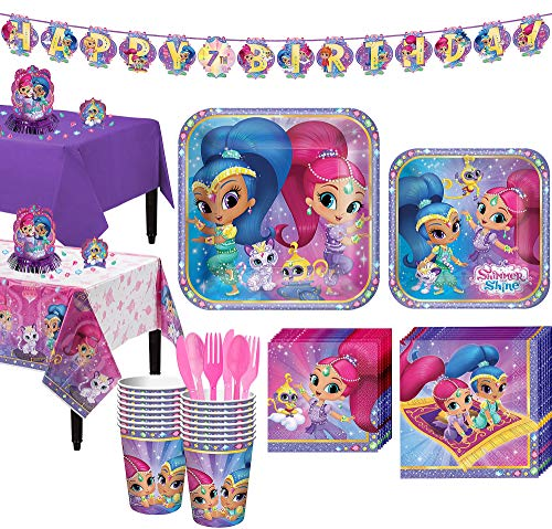 Party City Shimmer and Shine Tablew…