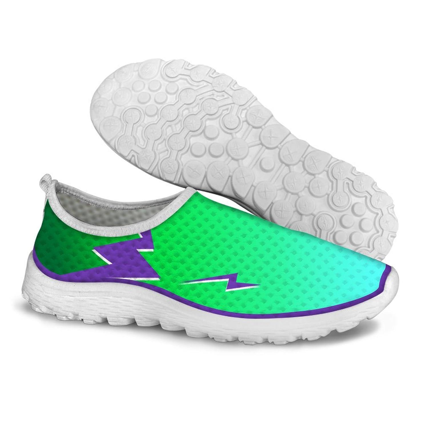 文明化に付ける興奮するFor U Designsクール女性用通気性メッシュアスレチックスニーカーランニング靴