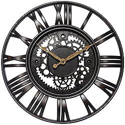 Infinity Instruments Roman Gear Clock, Rust