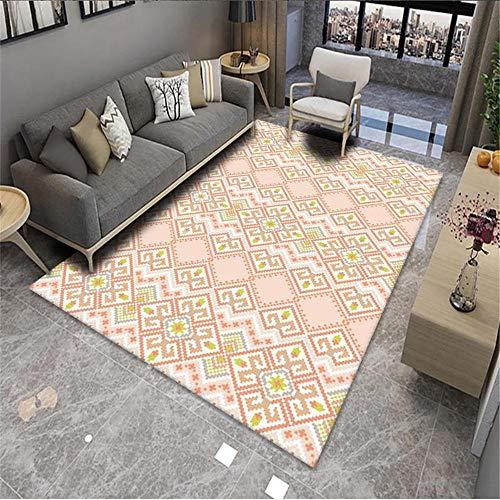 garden rug outside Living room rug pink geometric stripes modern minimal carpet anti-slip Pink locker rug 60x90cm lounge rugs large 1ft 11.6''X2ft 11.4''