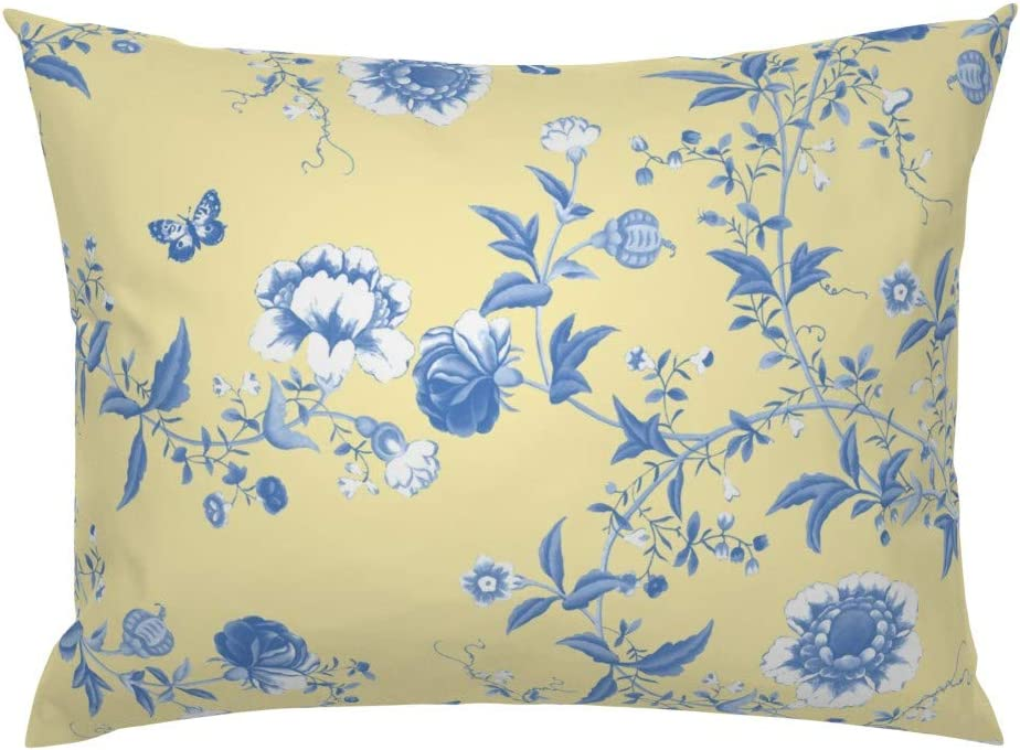 Bright Painted Moths Colorful Flower Watercolor Bugs Pillow Sham by Roostery
