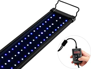 NICREW Saltwater Aquarium Light, Marine LED Fish Tank Light for Coral Reef Tanks, 2-Channel Timer Included