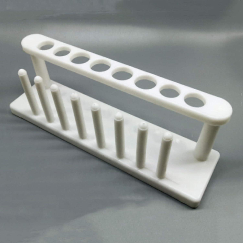 Columbus Mall Lot 2pcs White Plastic Test Holder Quality inspection Laboratory Tube Support Rack