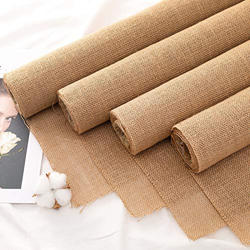 Floral Wrapping Paper Color Linen Natural Linen roll Rose Flower Bouquet Packaging Material Wrapping Paper High-Grade Floral Materials Package Flower Gauze 8 * 300cm