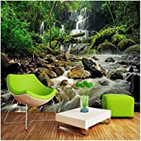 カスタム壁画 3D mural 滝の自然の風景 3Dの壁紙 リビングルームテレビソファの家の装飾 -400x280cm/157x110inch