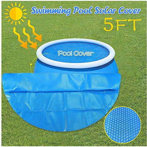 TTlove Swimming Pool Cover, Rectangle Pool Cover, Durable Pool Dust Cover Rainproof Pool Cover Above Ground Swimming Pools(Blue)