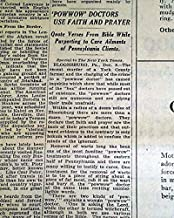 POW-WOW Doctors Pensylvania Dutch HEX Folk Magic Religion 1928 Old Newspaper THE NEW YORK TIMES, December 9, 1928