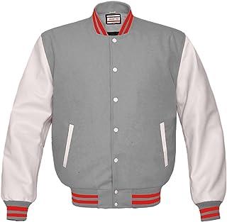 Luvsecretlingerie Superb純正ホワイトレザースリーブLetterman College Varsity Kidウールジャケット