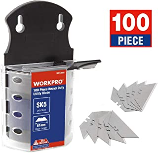 WORKPRO Utility Knife Blades Dispenser SK5 Steel 100-pack