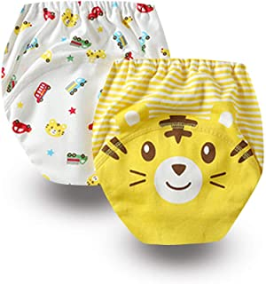 Baby 2 Pack Toddler Potty Training Pants Pee Toilet Underwear Cotton Panty Nappy Girls Boys