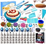Cake Decorating Supplies Kit 280 PCS Baking Set for Beginners with Cake Turntable