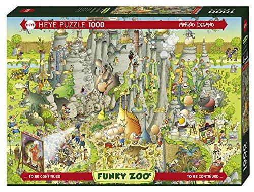 Heye- Puzzle Habitat Giurassico, 1000 Pezzi, Multicolore, 29727