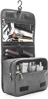 ZEON Travel Cosmetics Toiletries Packing Organiser Bag – Foldable Waterproof Makeup Hanging Storage Case (Grey)