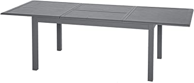 Table en verre extensible taupe 186 - 246 x 100 cm: Amazon ...