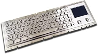 Metal Mechanical Keyboard with Trackpad/Touchpad - Waterproof and Vandalproof - Customizable Layout - USB or PS2