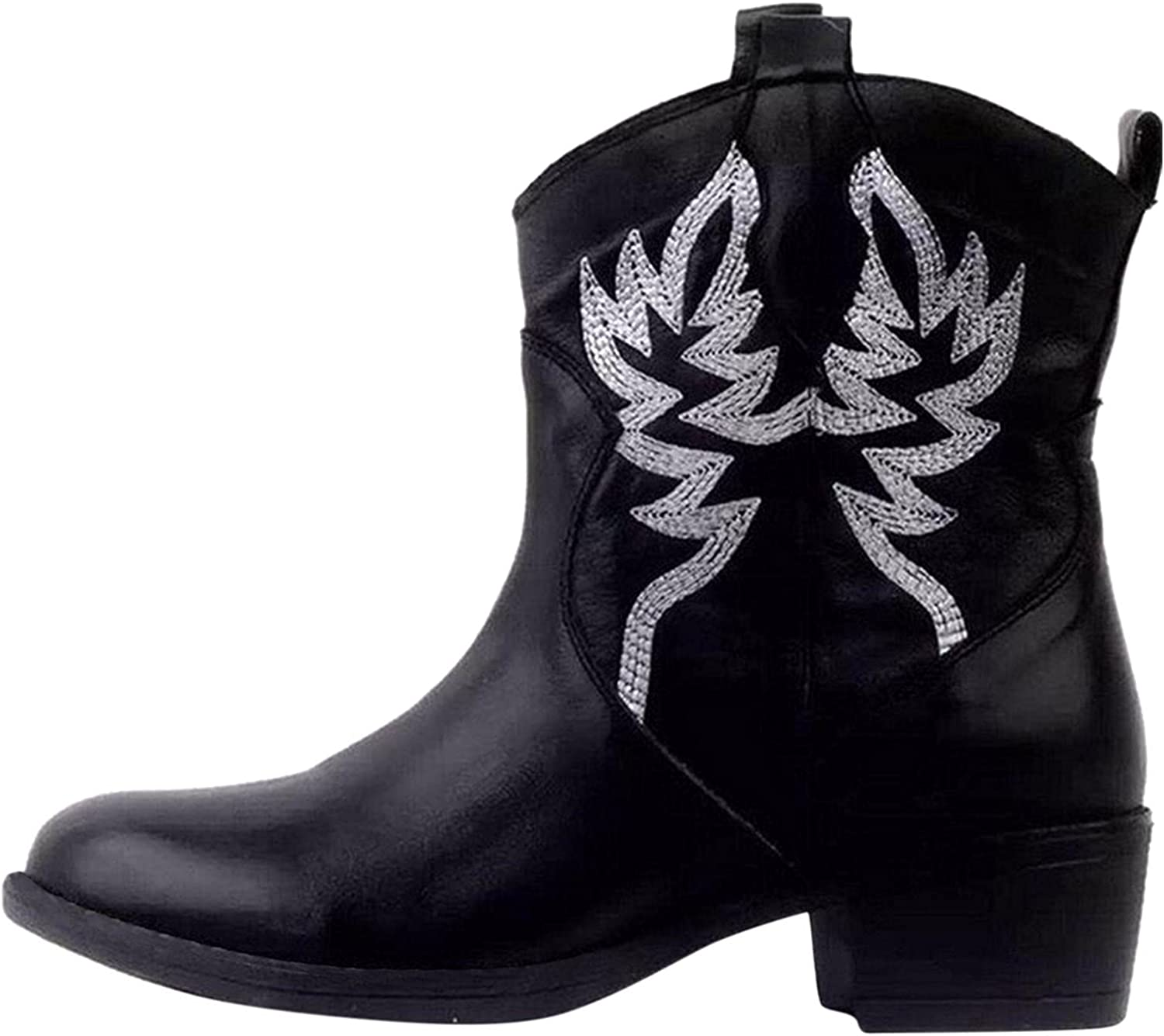 Boots New color For Women Vintage Pattern Rider Motorcycle Gorgeous Mid-Tube