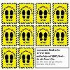 Tickprints® Social Distancing Floor Stickers Hindi सामाजिक निर्देशन फर्श Vinyl स्टिकर्स (Pack of 10) (9x12 Inch #1