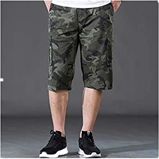 77aac5cfd562 POHOK Camouflage Shorts Men Men s Casual Pure Color Outdoors Pocket Beach  Work Trouser Cargo Loose Shorts