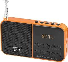 Trevi DR 740 SD - Radio portátil Digital (Litio, AA, batería recargable, Portátil, LED, Digital, AM, FM, entrada Micro-SD, MP3), color naranja