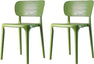 Plastikowe Krzesła Jadalne Zestaw 2, Kuchnia Restauracja Lounge Krzesła Z Hollow Back, Starczowe Nowoczesne Krzesła Jadaln...