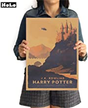 LYYDD Cartoon Flying Car Poster Harry Potter Hogwarts ...