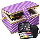 D&D Large Sewing Basket with Sewing Kit, Sewing...