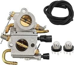 Trustsheer C1Q-S118 Carburetor with Primer Bulb Fuel Line for STIHL 4238 120 0600 TS410 TS410Z TS420 TS420Z Cut-Off Saw ZAMA C1QS118 Carb