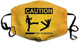This is Sparta Face Mask with Ear Loops Mouth Mask Anti Pollution Respirator White