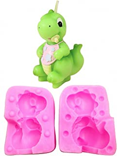MoldFun 3D T Rex Baby Dinosaur Silicone Mold for Fondant, Candle, Chocolate, Soap, Chocolate, Cake Decorating, Crayon Melt, Polymer Clay