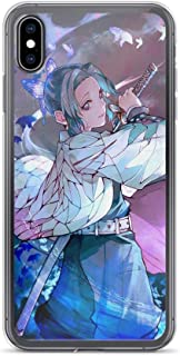 Beamm-Frost Compatible with iPhone 6/6s Case Demon Slayer Shinobu Magical Spell Anime Kimetsu No Yaiba Pure Clear Phone Cases Cover