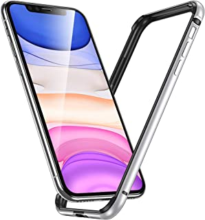 ESR Bumper Case Compatible for iPhone 11/iPhone XR, Metal Frame Armor with Soft Inner Bumper [Zero Signal Interference] [Raised Edge Protection] for iPhone 11/XR 6.1