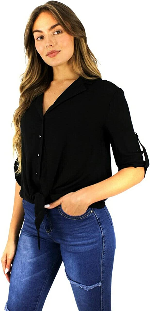 LA PETITE FEE Wholesale Womens Cotton Button Black Down T Award-winning store Rayon