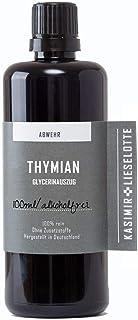 Alkoholfreie Thymian Tinktur 100 ml, Echter Thymian Tropfen aus reinsten Zutaten