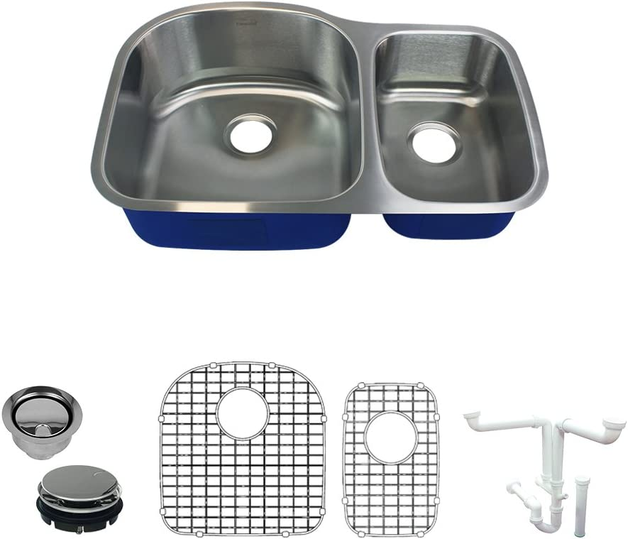 Transolid Max 72% OFF K-MUDD32219 Meridian Undermount Mail order cheap Si Double-Bowl Kitchen