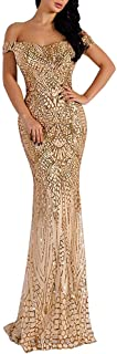 Lin Lin Q Women Bra Sequin Maxi Evening Party Dress