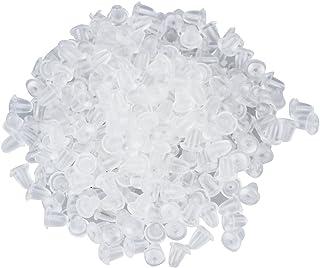 Gleader 300 pz ricambi fermaorecchini Trasparente Morbido in plastica