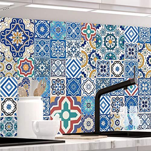 StickerProfis Küchenrückwand selbstklebend - MAROKKO Fliesen - 1.5mm, Versteift, alle Untergründe, Hart PET Material, Premium 60 x 280cm