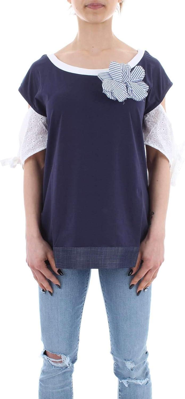 ZOE Women's 2061Z88395 blueee Cotton TShirt